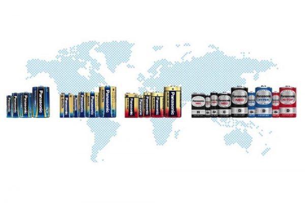 شحنات باناسونيك من البطاريات الجافة حول العالم