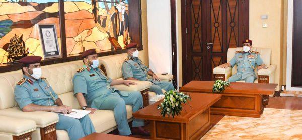 اللواء علي بن علوان يستقبل نائب مدير عام المؤسسات العقابية والإصلاحية بوزارة الداخلية