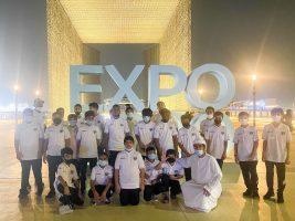 وفد المراحل السنية بنادي الإمارات يزور معرض إكسبو2020